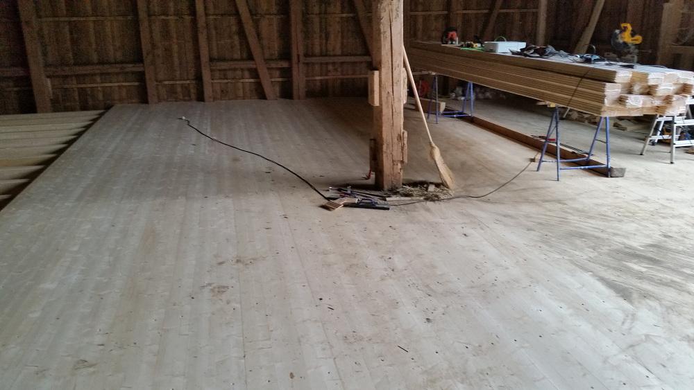 Renovation Scheunenboden