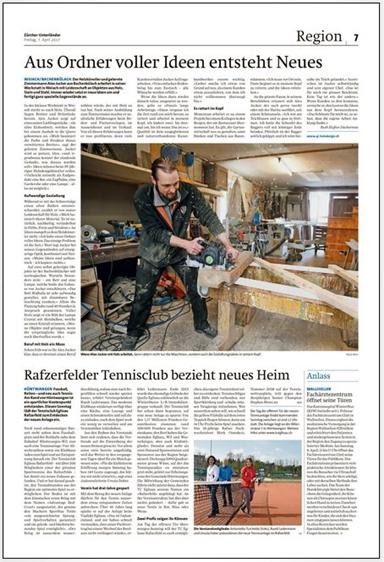 """Bericht_ganze Seite / Um Bericht zu lesen auf """"Zeitungsbericht lesen"""" klicken"""