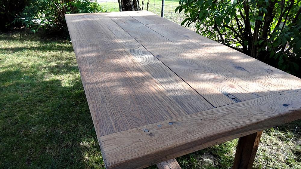 Schönes massives Eichen-Tischblatt
