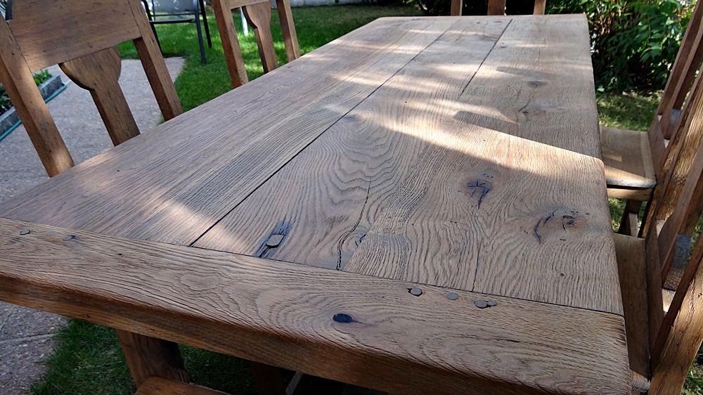Schönes, massives und super robustes Tischblatt auch Eichenholz