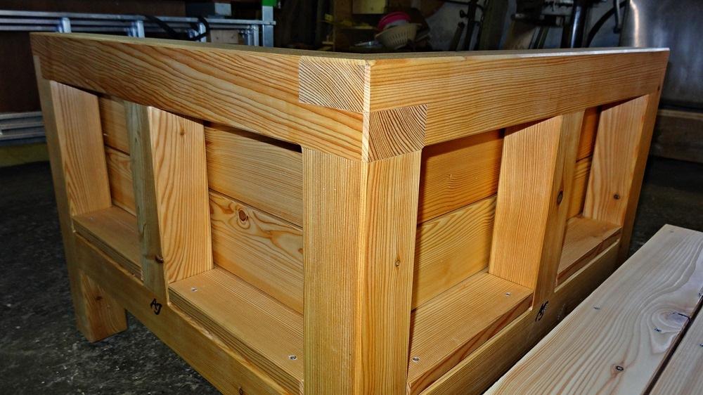 Saubere und wasserfest verleimte Holzverbindung