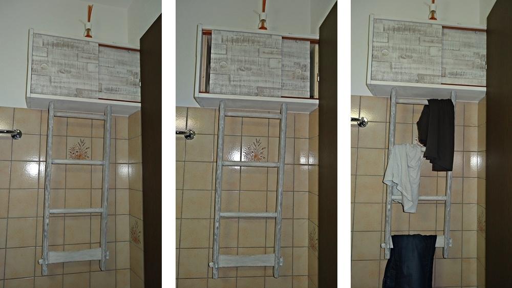 Hochschrank mit Leiter