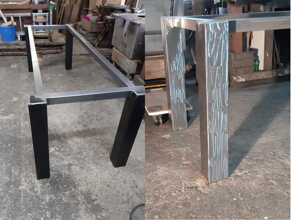 Stahlrahmen roh / Stahlramen geschliffen